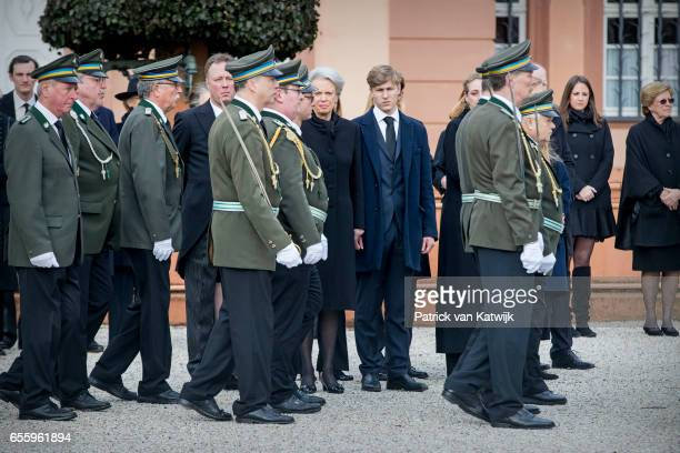 Princess Benedikte of Denmark Prince Gustav zu SaynWittgensteinBerleburg and his girlfriend Carina Axelsson Princess Alexandra zu...