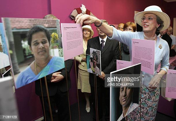 Princess Benedikte of Denmark visits an exhibition of the Fraenkische Stiftung in Halle eastern Germany 23 June 2006 The Princess attends the 300th...