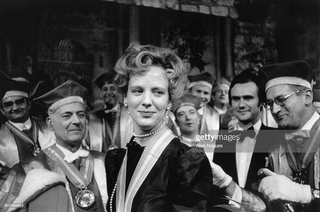 Princess Benedikte of Denmark in Burgundy : News Photo