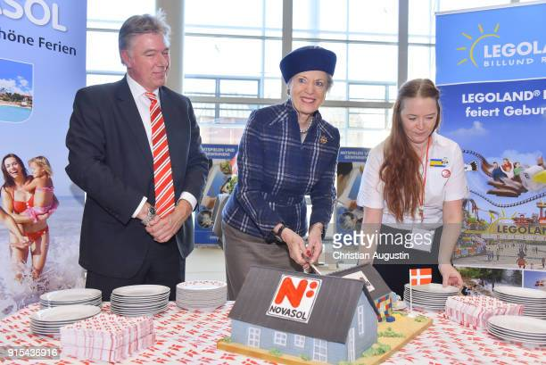 Princess Benedikte of Denmark visits the Lego stand during the walkabout across the danish part of HAMBURG REISEN at Hamburg Messe on February 7 2018...