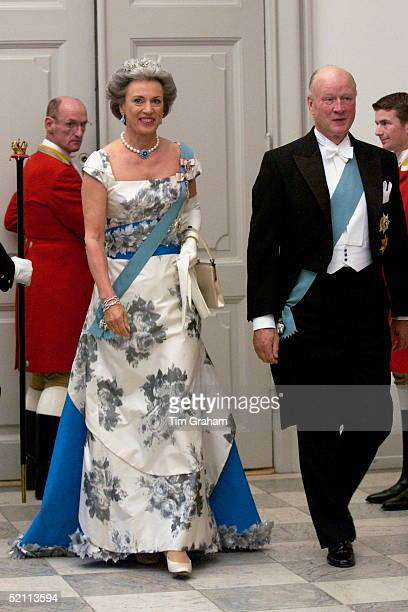 Princess Benedikte Of Denmark Younger Sister Of The Monarch And Her Husband Prince Richard Of Saynwittgensteinberleburg Attending A Reception At The...
