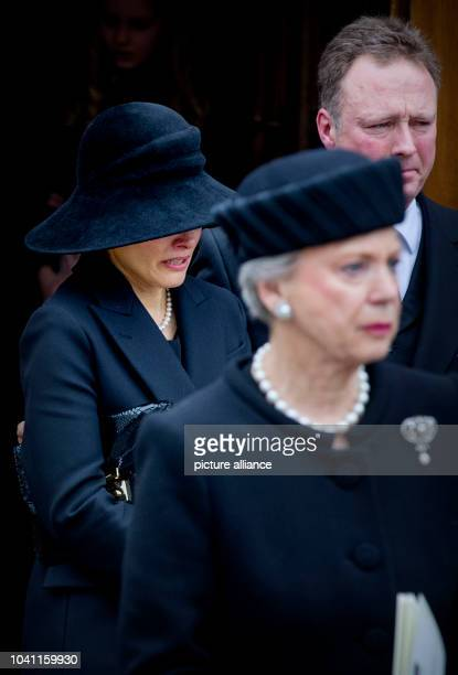 Princess Benedikte Prince Gustav and Count Richard attend the funeral service of Prince Richard zu SaynWittgensteinBerleburg at the Evangelische...