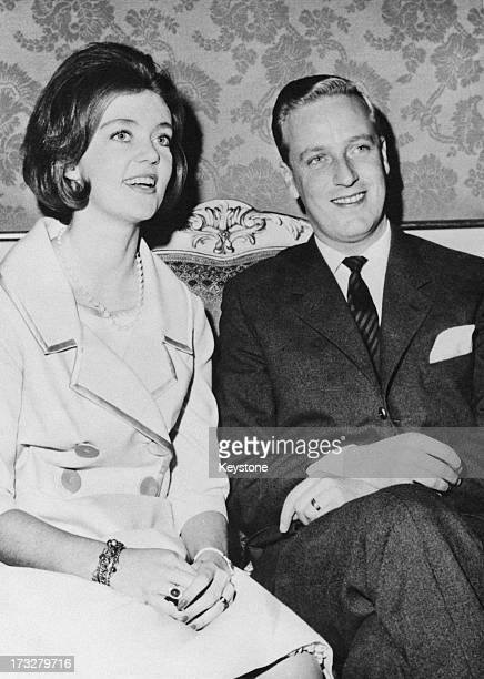 Princess Birgitta of Sweden and Prince Johann Georg of Hohenzollern announce their engagement at the Royal Palace Stockholm 19th December 1960
