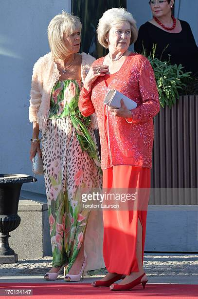 Princess Birgitta of Sweden and Princess Margaretha Mrs Ambler attend a private dinner on the eve of the wedding of Princess Madeleine and...