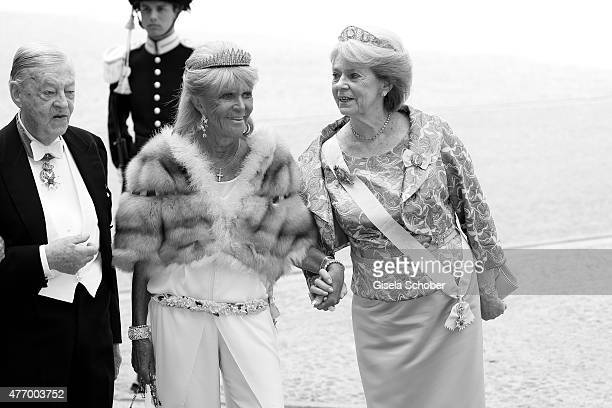Princess Birgitta of Sweden and Princess Margaretha Mrs Ambler attend the royal wedding of Prince Carl Philip of Sweden and Sofia Hellqvist at The...