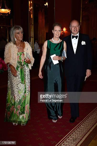 Princess Birgitta of Sweden Desiree von Bohlen und Halbach and Eckbert von Bohlen attend a private dinner on the eve of the wedding of Princess...