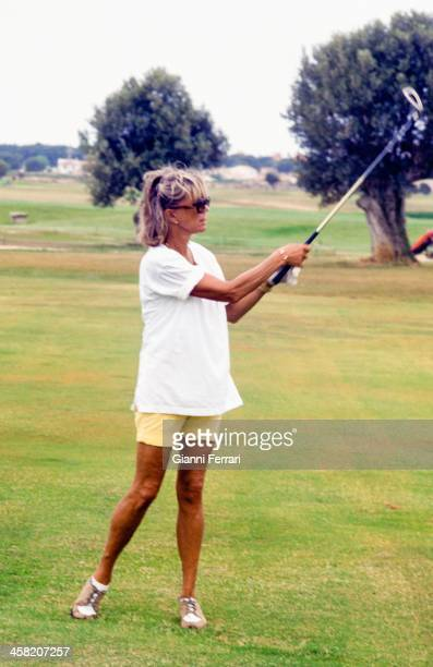 Princess Birgitta of Sweden paying golf in Santa Ponsa 17th May 1999 Palma de Mallorca Balearic Islands Spain