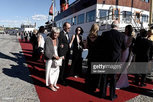 Princess Brigitta of Sweden attends the PreWedding Dinner for Prince Carl Philip and Sofia Hellqvist on June 12 2015 in Stockholm Sweden