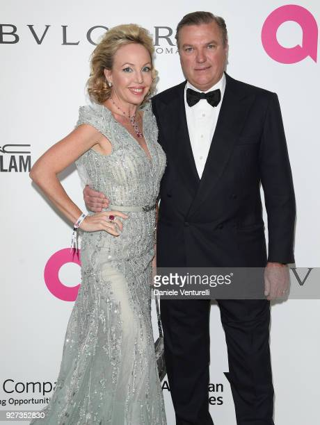 Princess Camilla Duchess of Castro and attends Elton John AIDS Foundation 26th Annual Academy Awards Viewing Party at The City of West Hollywood Park...