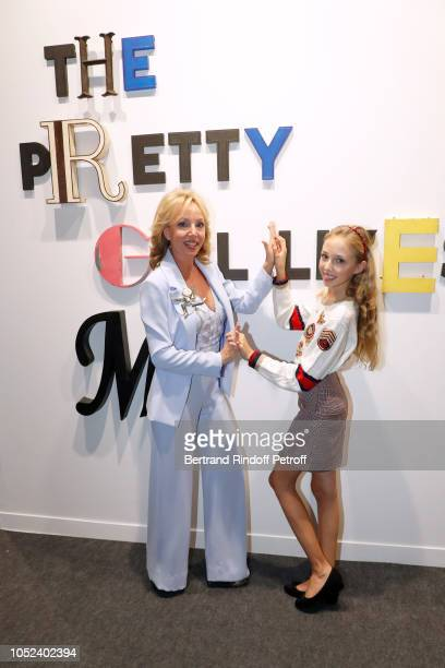 Princess Camilla Duchess of Castro and her daughter attend the FIAC 2018 International Contemporary Art Fair Press Preview at Grand Palais on October...