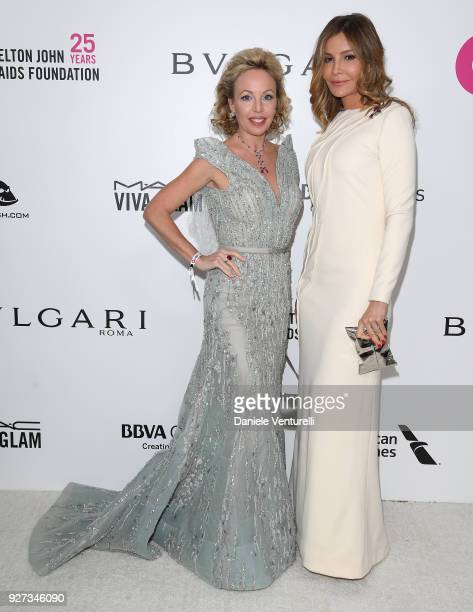 Princess Camilla Duchess of Castro and Lola KarimovaTillyaeva attend Elton John AIDS Foundation 26th Annual Academy Awards Viewing Party at The City...