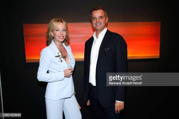 Princess Camilla Duchess of Castro and Mimo Vedovi attend the FIAC 2018 International Contemporary Art Fair Press Preview at Grand Palais on October...