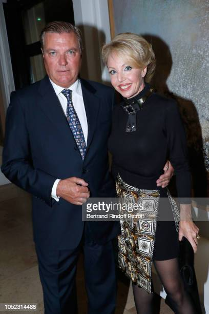 Princess Camilla Duchess of Castro and Prince Carlo Duke of Castro attend the Societe des Amis du Musee d'Art Moderne Dinner Held at Musee d'Art...