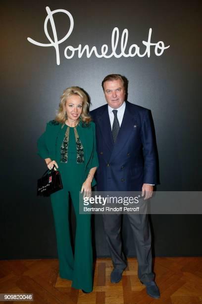 Princess Camilla Duchess of Castro and Prince Carlo Duke of Castro attend the new Pomellato campaign launch with Chiara Ferragni as part of Paris...