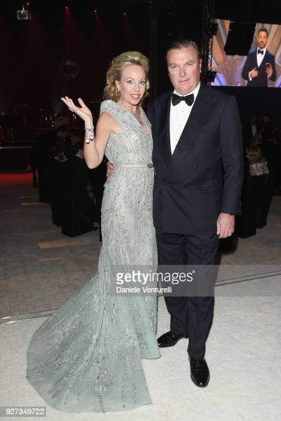 Princess Camilla Duchess of Castro and Prince Carlo Duke of Castro attend Elton John AIDS Foundation 26th Annual Academy Awards Viewing Party at The...