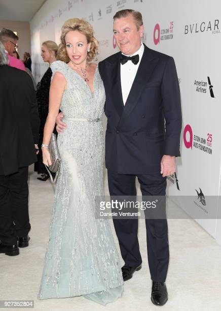 Princess Camilla Duchess of Castro and Prince Carlo Duke of Castro attends Elton John AIDS Foundation 26th Annual Academy Awards Viewing Party at The...
