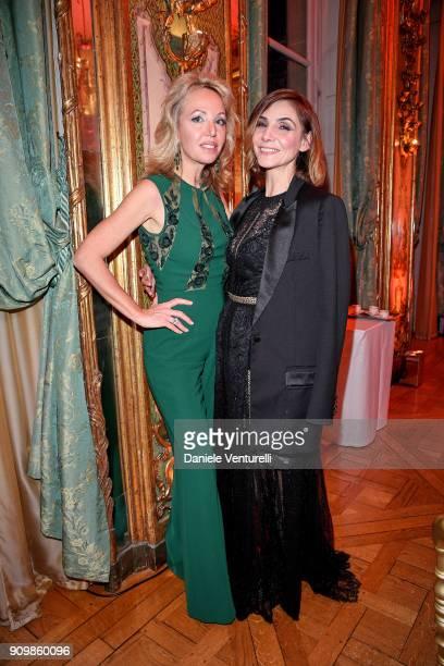 Princess Camilla Duchess of Castro and S A R Princesse Clotilde Di Savoia attend the Pomellato after party for the new campaign launch with Chiara...