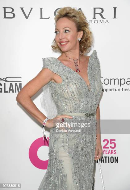 Princess Camilla Duchess of Castro attends Elton John AIDS Foundation 26th Annual Academy Awards Viewing Party at The City of West Hollywood Park on...
