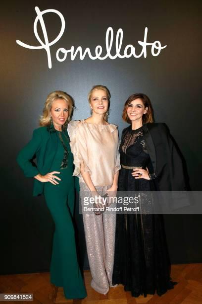 Princess Camilla Duchess of Castro Giada Magliano and S A R Princesse Clotilde Di Savoia attend the new Pomellato campaign launch with Chiara...