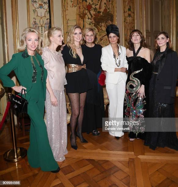 Princess Camilla Duchess of Castro Giada Magliano Chiara Ferragni Ceo of Pomellato Sabina Belli Helen Nonini Caroline Corbetta and S A R Princesse...