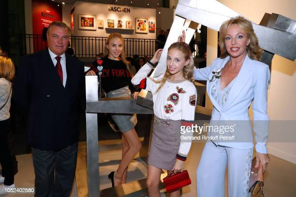 Princess Camilla Duchess of Castro Prince Carlo Duke of Castro and their daughters attend the FIAC 2018 International Contemporary Art Fair Press...
