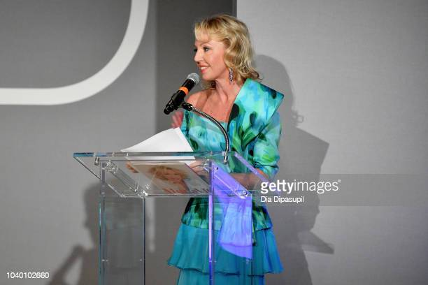 Princess Camilla of Bourbon speaks onstage during Fashion 4 Development's 8th Annual Official First Ladies Luncheon at The Pierre Hotel on September...
