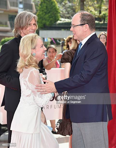 Princess Camilla of Bourbon Two Sicilies and Prince Albert II of Monaco attend a photocall during the 54th MonteCarlo Television Festival at Grimaldi...