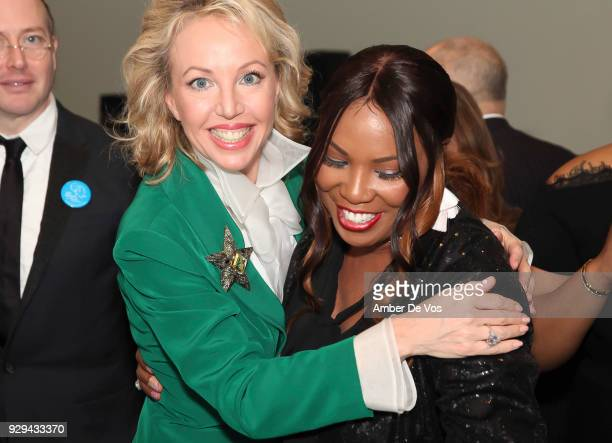 Princess Camilla of Bourbon Two Sicilies Duchess of Castro and Mary Brown attend the UNWFPA Annual Awards Luncheon in Celebration of International...