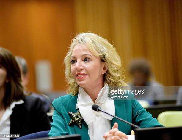 Princess Camilla of Bourbon Two Sicilies Duchess of Castro attends the UNWFPA Media Panel Discussion on March 8 2018 in New York City
