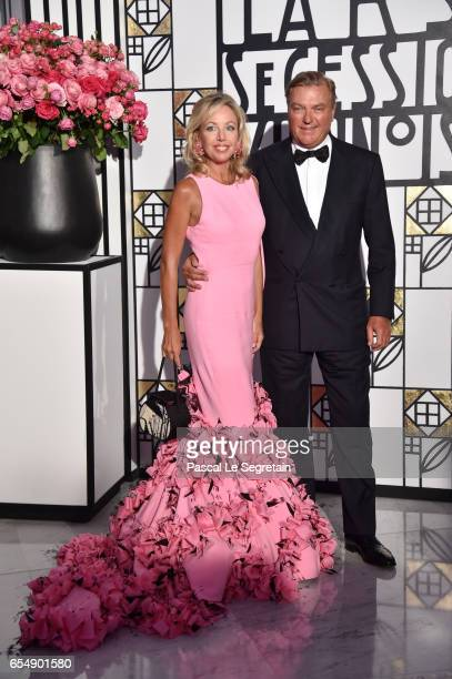 Princess Camilla of Bourbon-two Sicilies and Prince Charles of Bourbon-two Sicilies attend the Rose Ball 2017 To Benefit The Princess Grace...