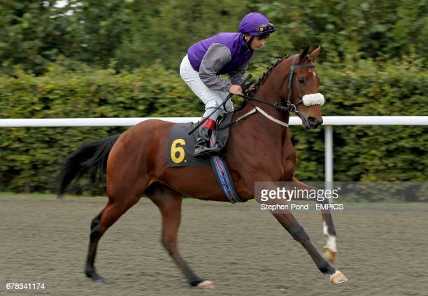 Princess Cammie ridden by jockey Andrea Atzeni going to post prior to the Win Big With Betdaq Multiples Claiming Stakes