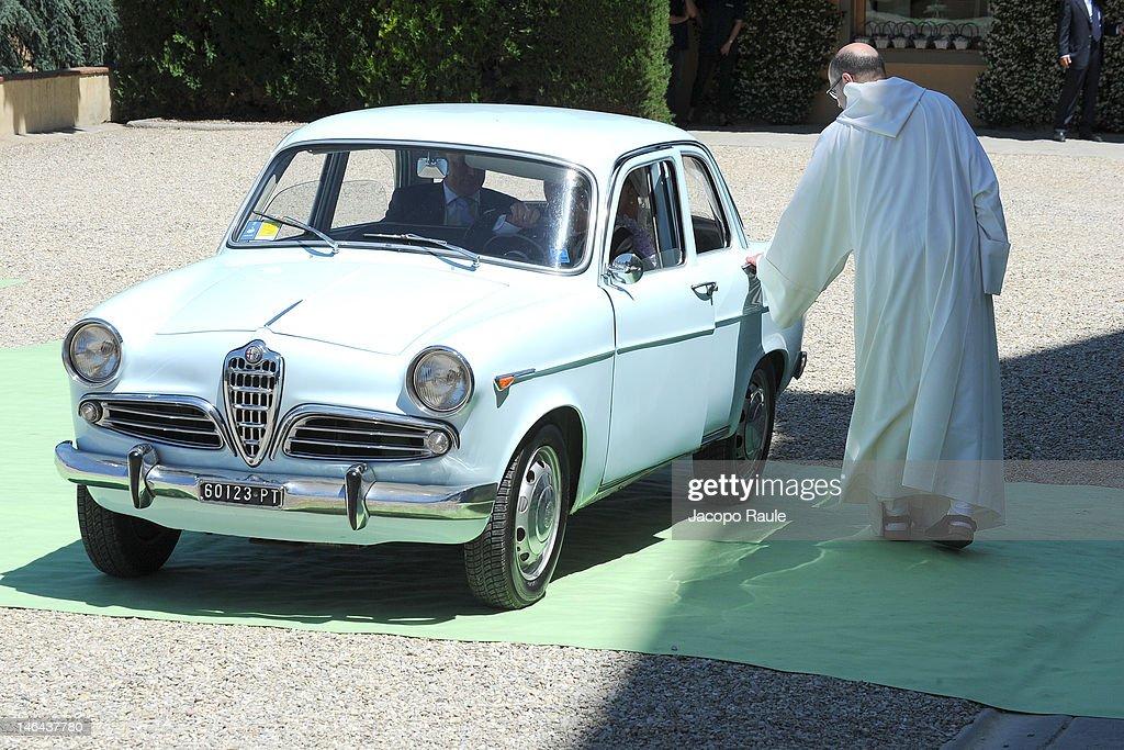 Princess Carolina de Borbon Parma arrives for the church wedding of Princess Carolina to Mr Albert Brenninkmeijer, at Basilica di San Miniato al Monte on June 16, 2012 in Florence, Italy.