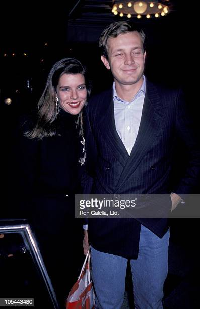 Princess Caroline and Guest during Princess Caroline Attends a Performance of 'La Ronde' October 30 1995 at New York State Theater in Lincoln Center...