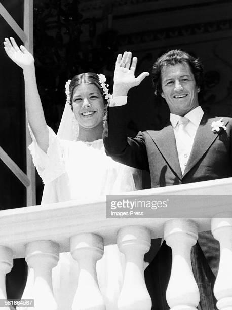 Princess Caroline and Philippe Junot circa 1978 in Monaco.