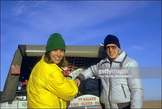 Princess Caroline and Prince Albert take part in the ParisDakar rallye race In Algeria On January 05 1985Princess Caroline and Prince Albert