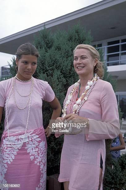 Princess Caroline and Princess Grace of Monaco during he Royal Family of Monaco at Ocean City Beach at Ocean City Beach in Ocean City New Jersey...