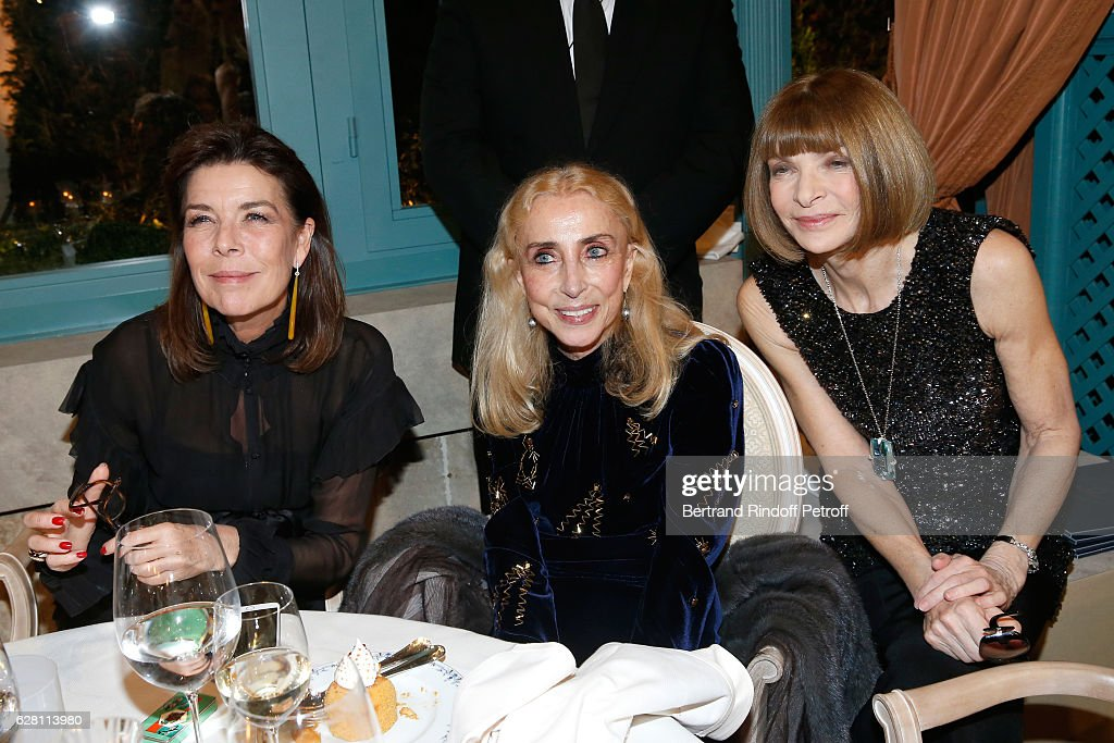 Princess Caroline de Hanovre, Franca Sozzani and Anna Wintour attend the 'Chanel Collection des Metiers d'Art 2016/17 : Paris Cosmopolite'