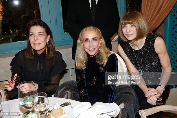 Princess Caroline de Hanovre Franca Sozzani and Anna Wintour attend the 'Chanel Collection des Metiers d'Art 2016/17 Paris Cosmopolite' Show at Hotel...