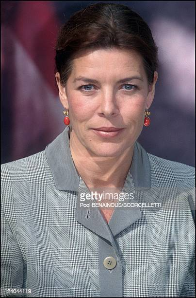 Princess Caroline de Monaco president of the Monaco Dance Danse Forum in Monaco City Monaco on October 09 2000