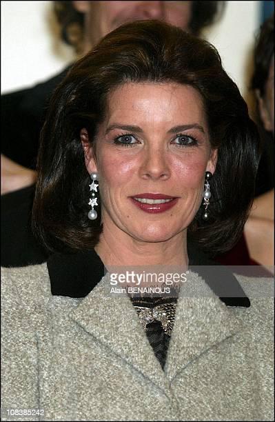 Princess Caroline in Monaco on December 14 2002