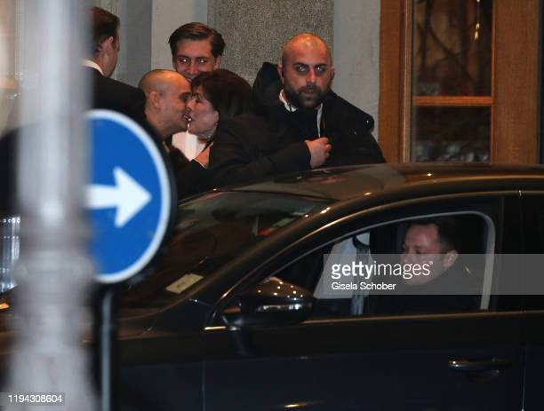 Princess Caroline of Hannover and Alexander Alex Dellal former boyfriend of Charlotte Casiraghi during the wedding party of Stavros Niarchos III and...