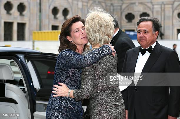 Princess Caroline of Hannover and Angelika Diekmann during a charity dinner hosted by AMADE Deutschland and Roland Berger Foundation at Kaisersaal...