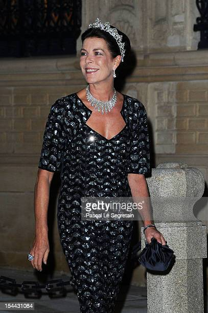 Princess Caroline of Hannover attends the Gala dinner for the wedding of Prince Guillaume Of Luxembourg and Stephanie de Lannoy at the Grand-ducal...