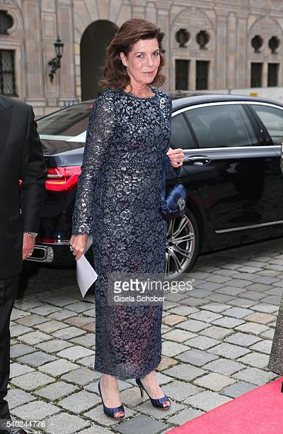 Princess Caroline of Hannover during a charity dinner hosted by AMADE Deutschland and Roland Berger Foundation at Kaisersaal der Residenz der...