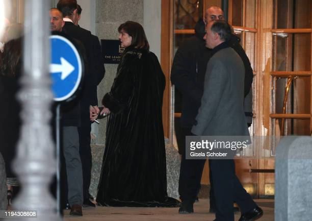 Princess Caroline of Hannover during the wedding party of Stavros Niarchos III and Dasha Zhukova on January 17 2020 at Hotel Kulm in St Moritz...