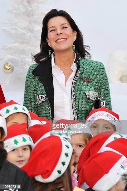 Princess Caroline of Hanove attends the 'Arbre de Noel' for Monaco children on December 15 2010 in Monaco Monaco