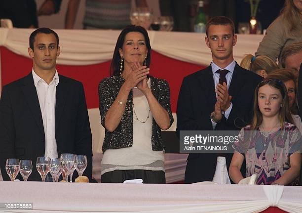 Princess Caroline of Hanover and Alex Dellal and Pierre Casiraghi and Alexandra in Monte Carlo Monaco on June 24th 2010
