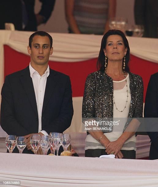 Princess Caroline of Hanover and Alex Dellal in Monte Carlo Monaco on June 24th 2010