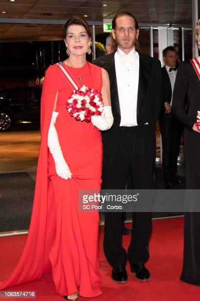 Princess Caroline of Hanover and Andrea Casiraghi attend a Gala during Monaco National Day on November 19 2018 in MonteCarlo Monaco