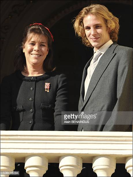 Princess Caroline of Hanover and Andrea Casiraghi in Monte Carlo Monaco on November 19 2008